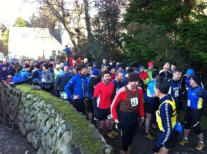 Runners get ready for the start!